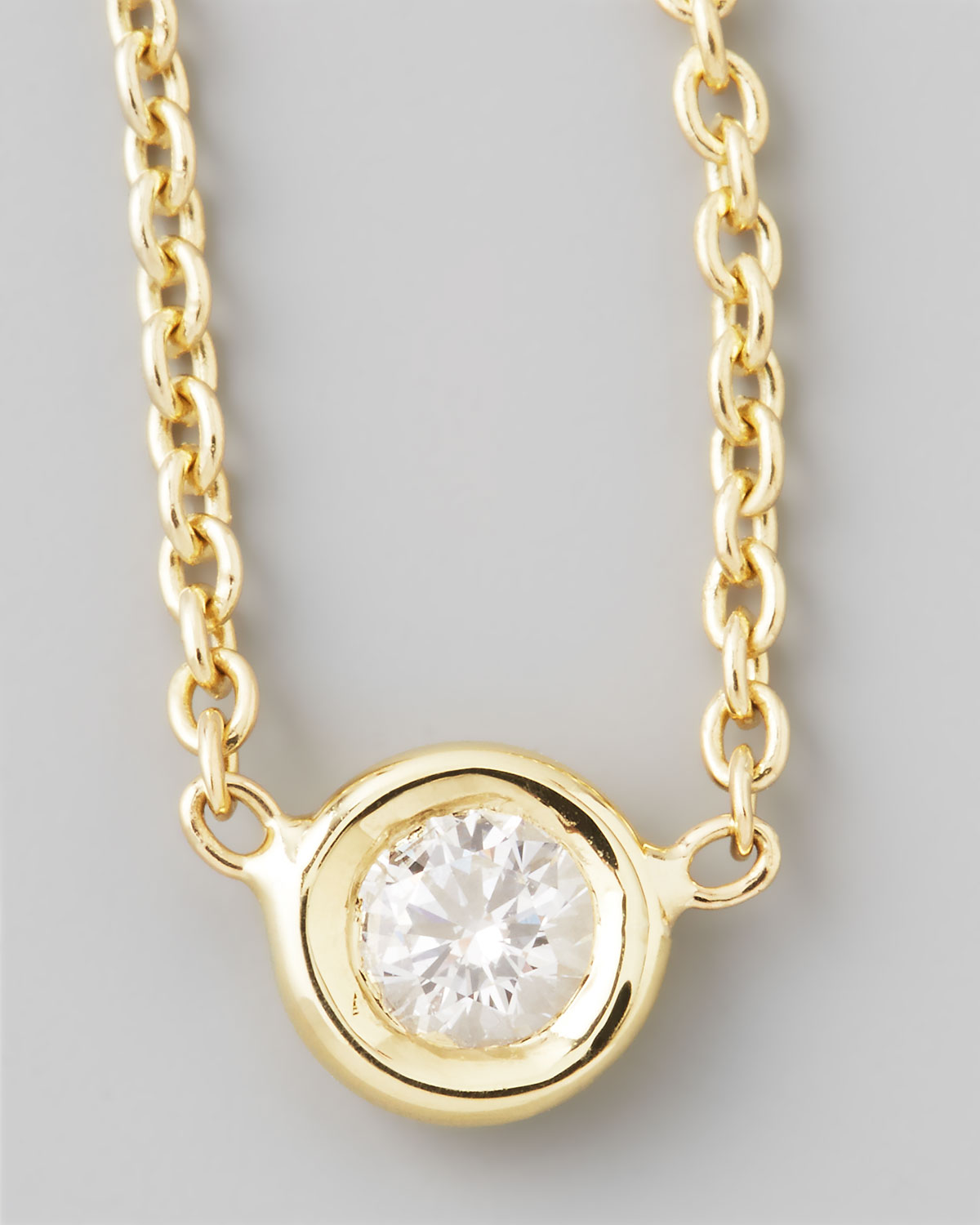 roberto coin 18k yellow gold single diamond necklace in. Black Bedroom Furniture Sets. Home Design Ideas