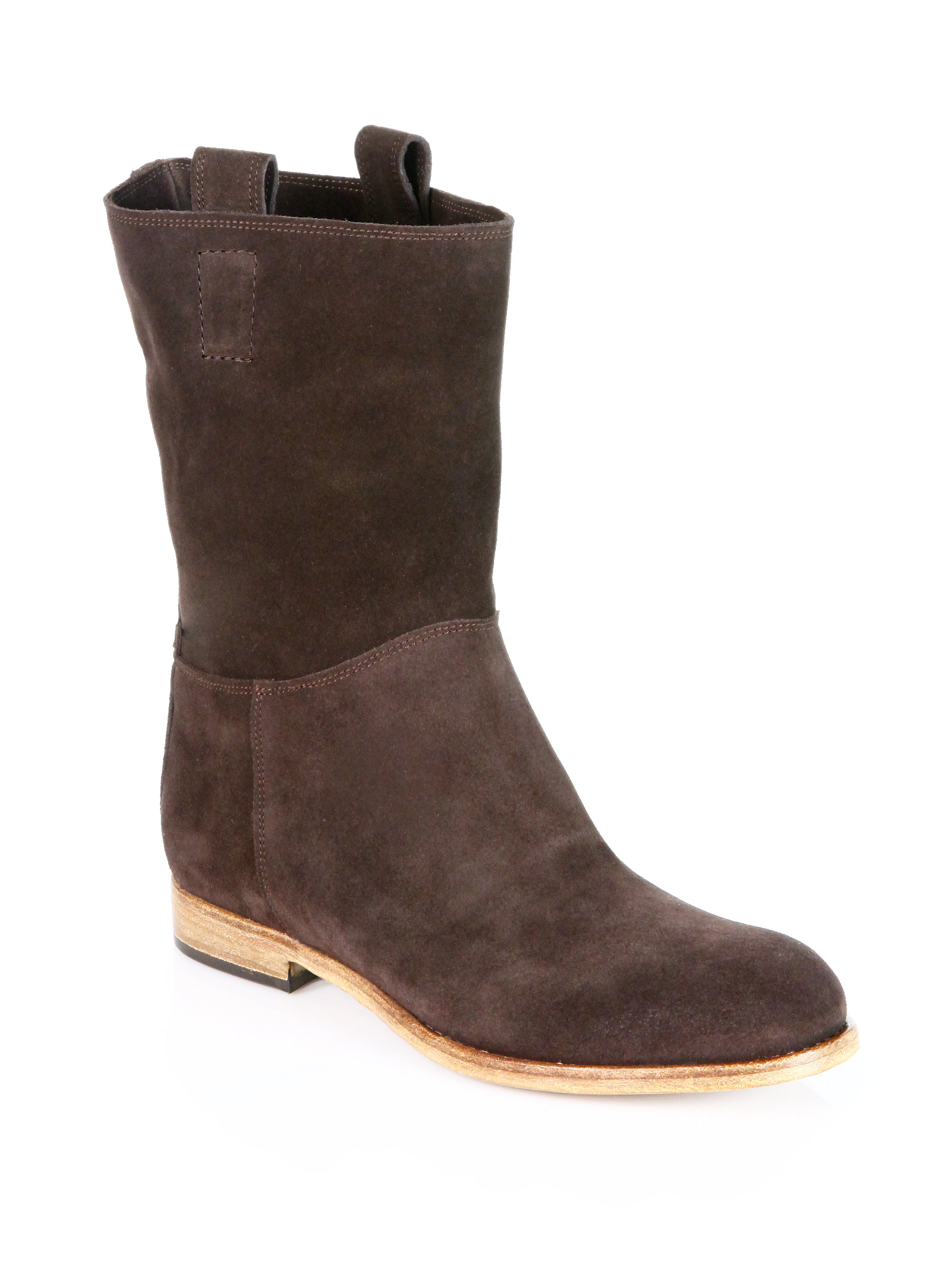 alberto fermani umbria suede slouchy midcalf boots in