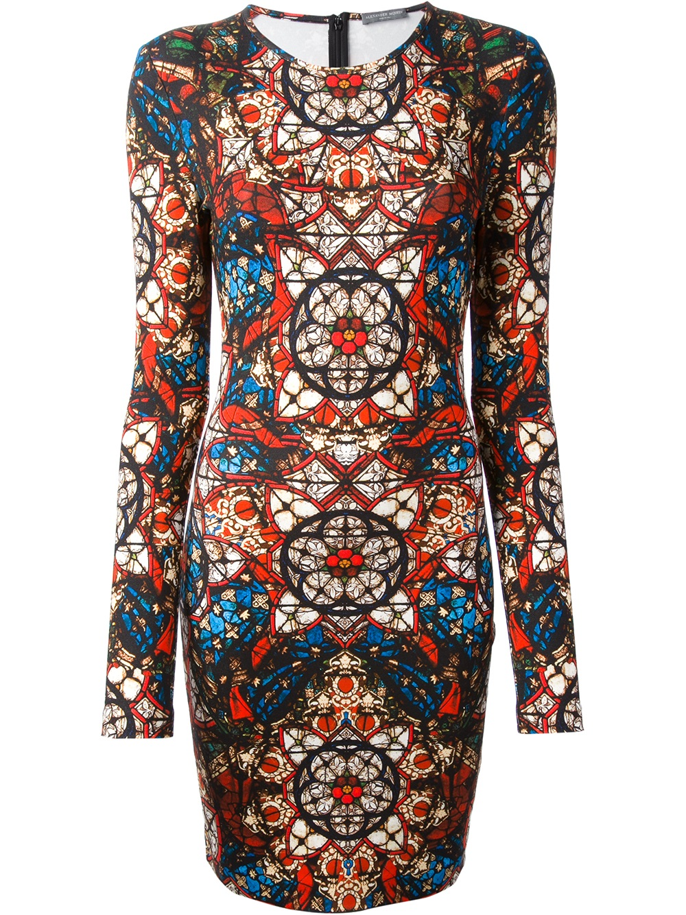 Lyst Alexander Mcqueen Printed Dress