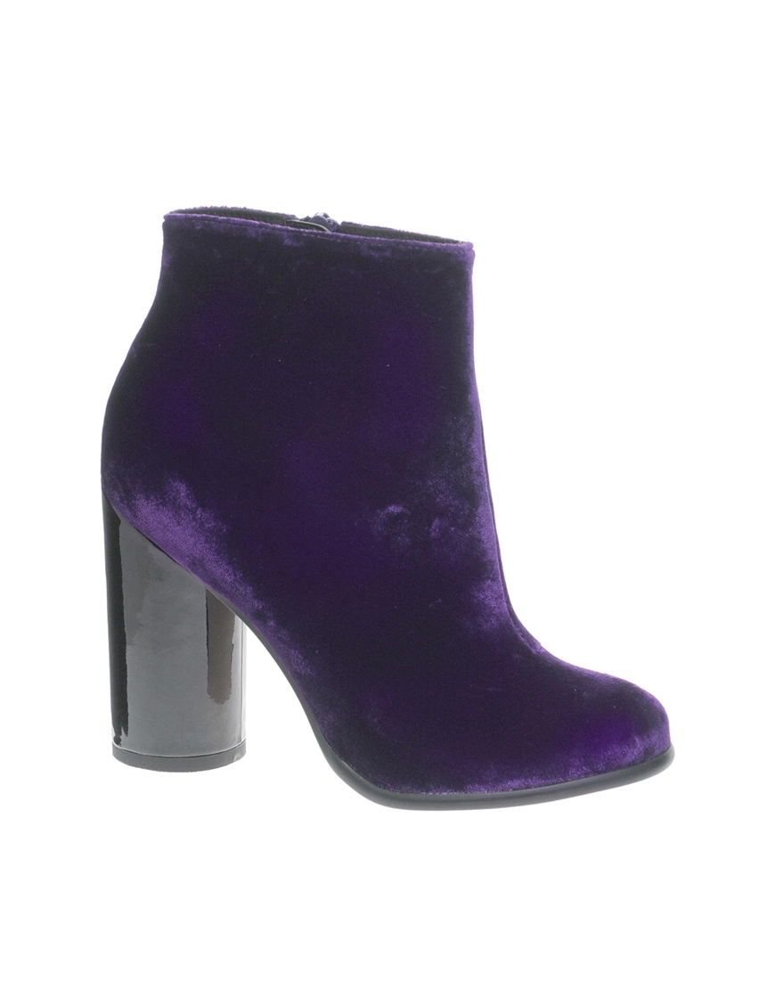 Asos Aero Ankle Boots in Purple   Lyst