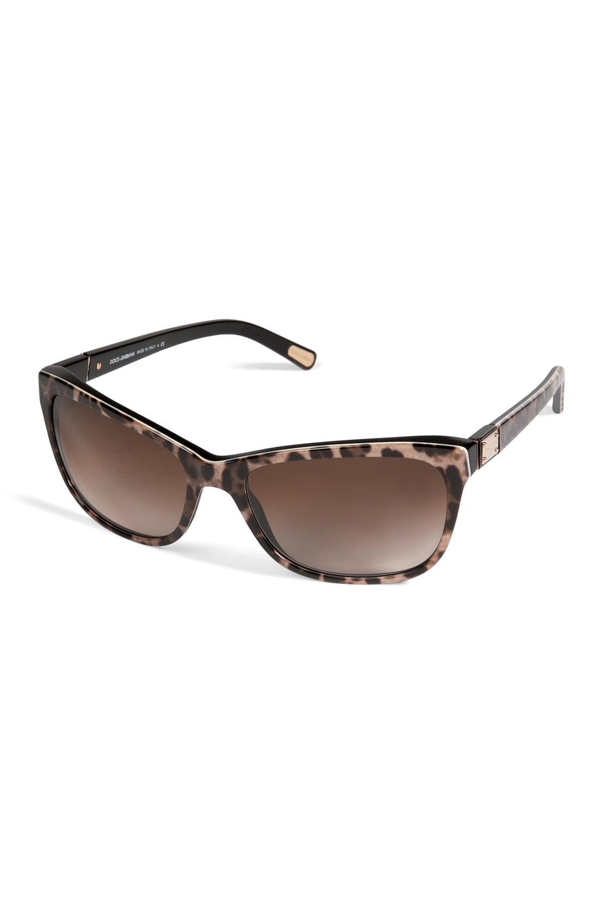e23214fc30476 Lyst - Dolce   Gabbana Acetate Animal Print Gradient Sunglasses in ...