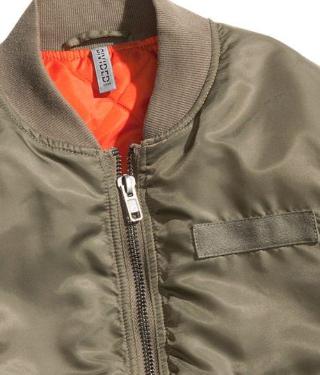 H&m Bomber Jacket in Khaki