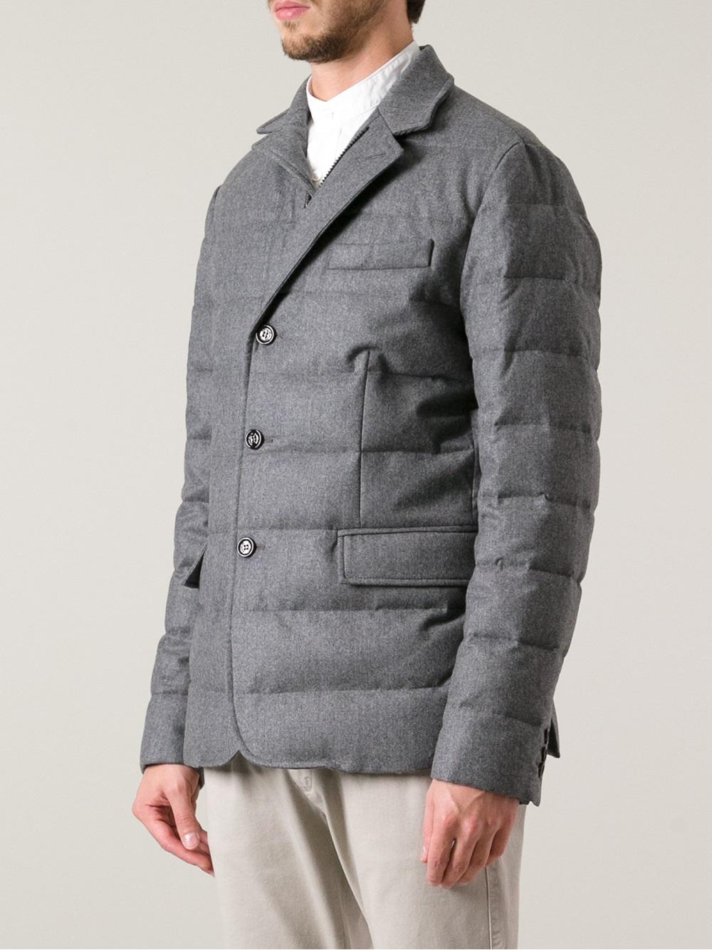 d64e7347a5d5 Lyst - Moncler Rodin Blazer in Gray for Men