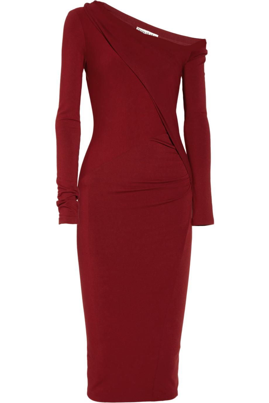 Donna Karan Modern Icons Asymmetric Stretch Jersey Dress
