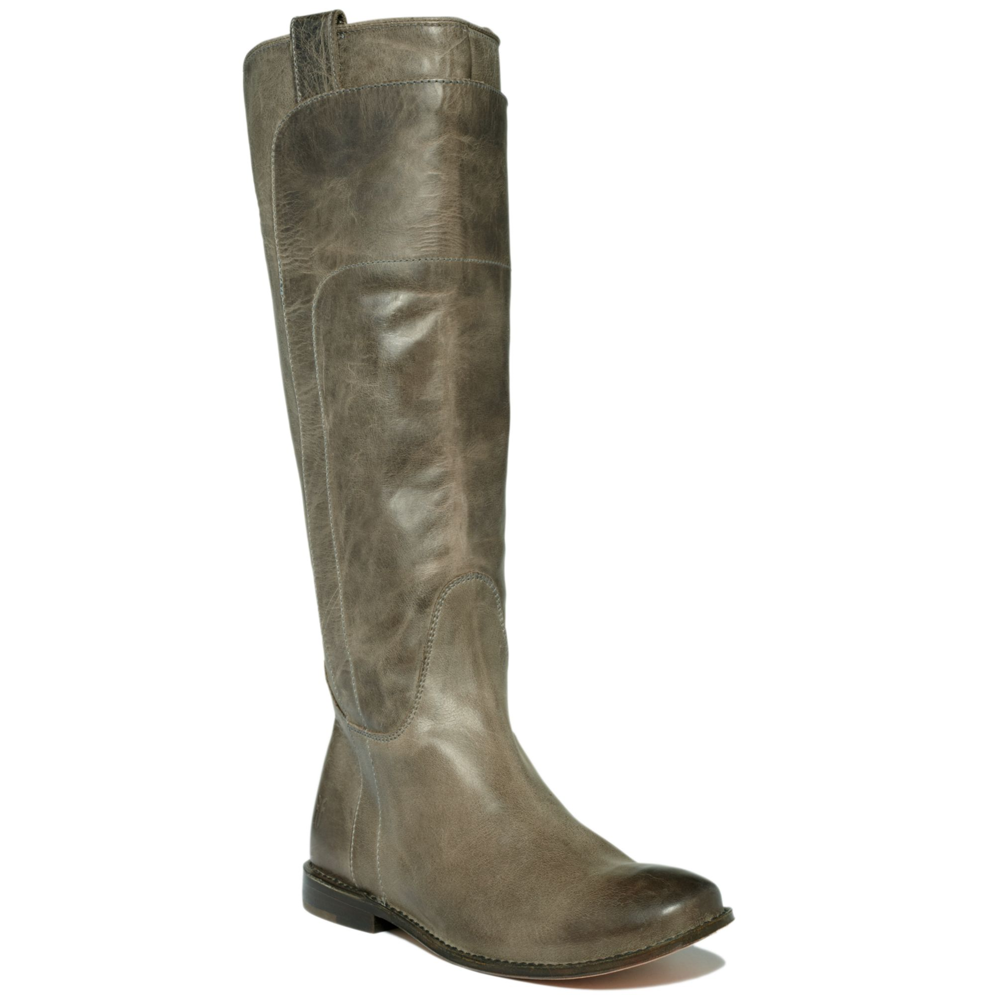 Frye Paige Tall Riding Boots in Green (grey) | Lyst