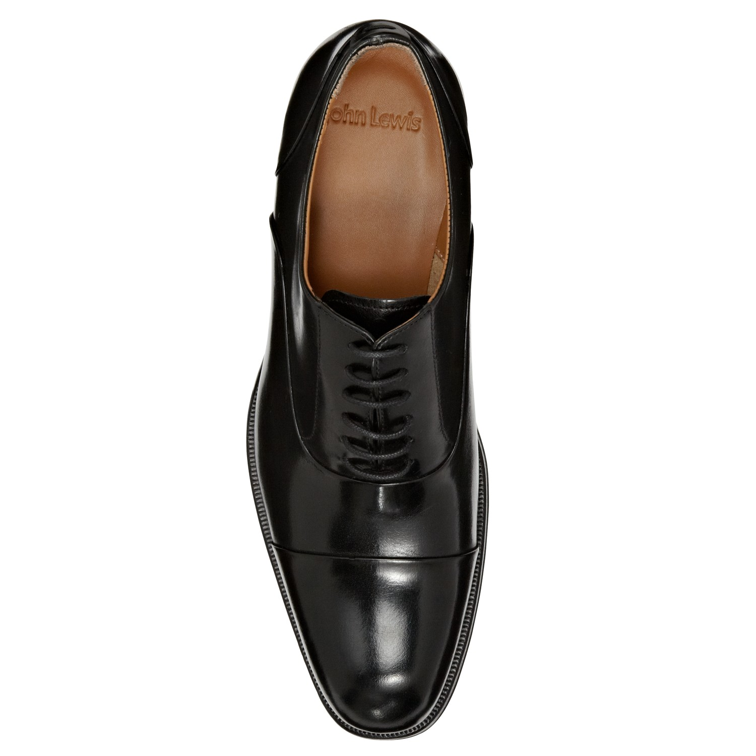 John Lewis Black Goodwin Leather Oxford Shoes For Men Lyst