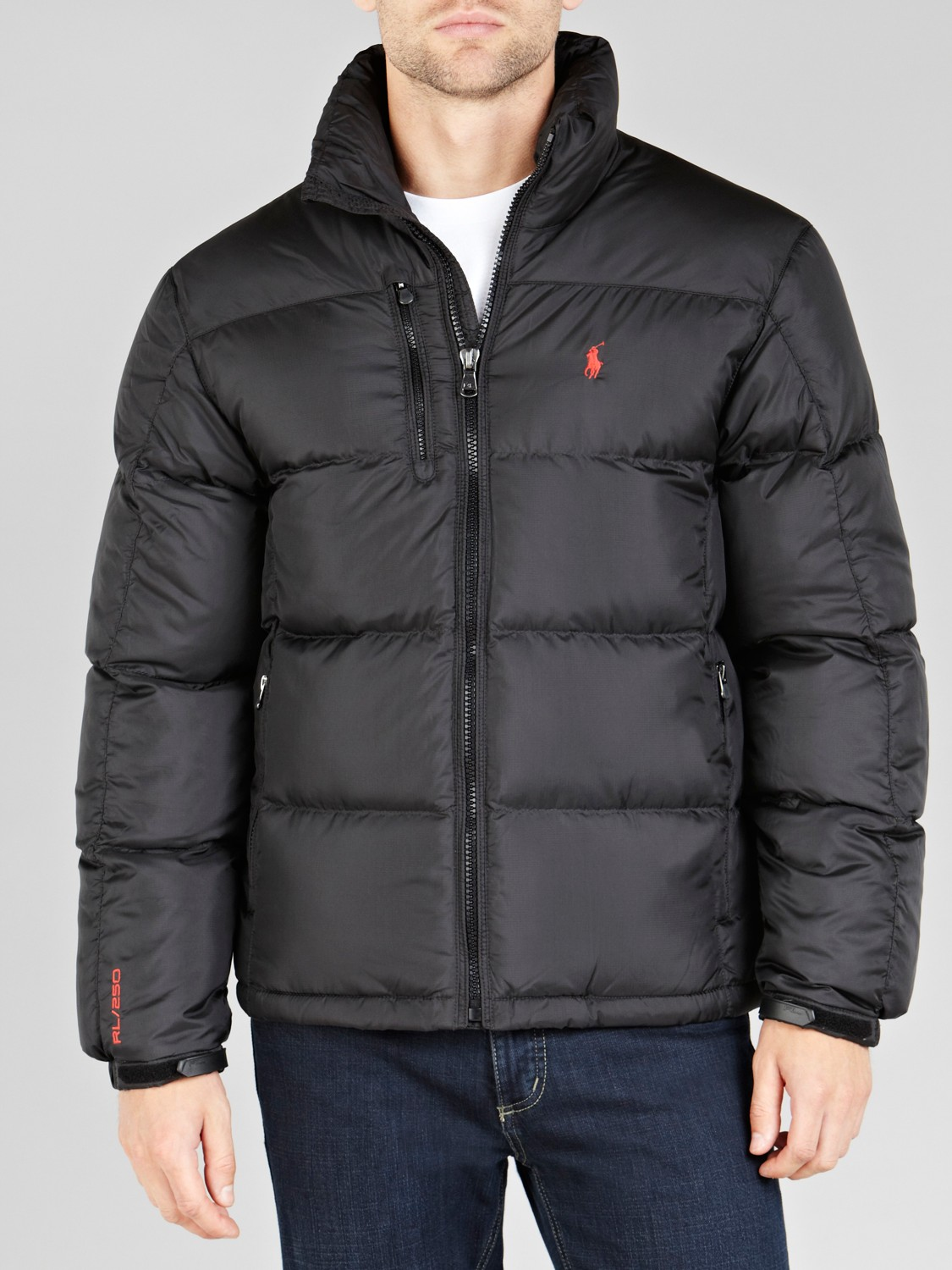 lyst polo ralph lauren rl250 puffer jacket in black for men. Black Bedroom Furniture Sets. Home Design Ideas