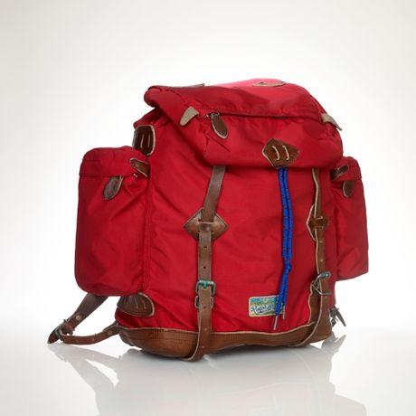 Polo Ralph Lauren Nylon Utility Backpack In Red For Men Lyst