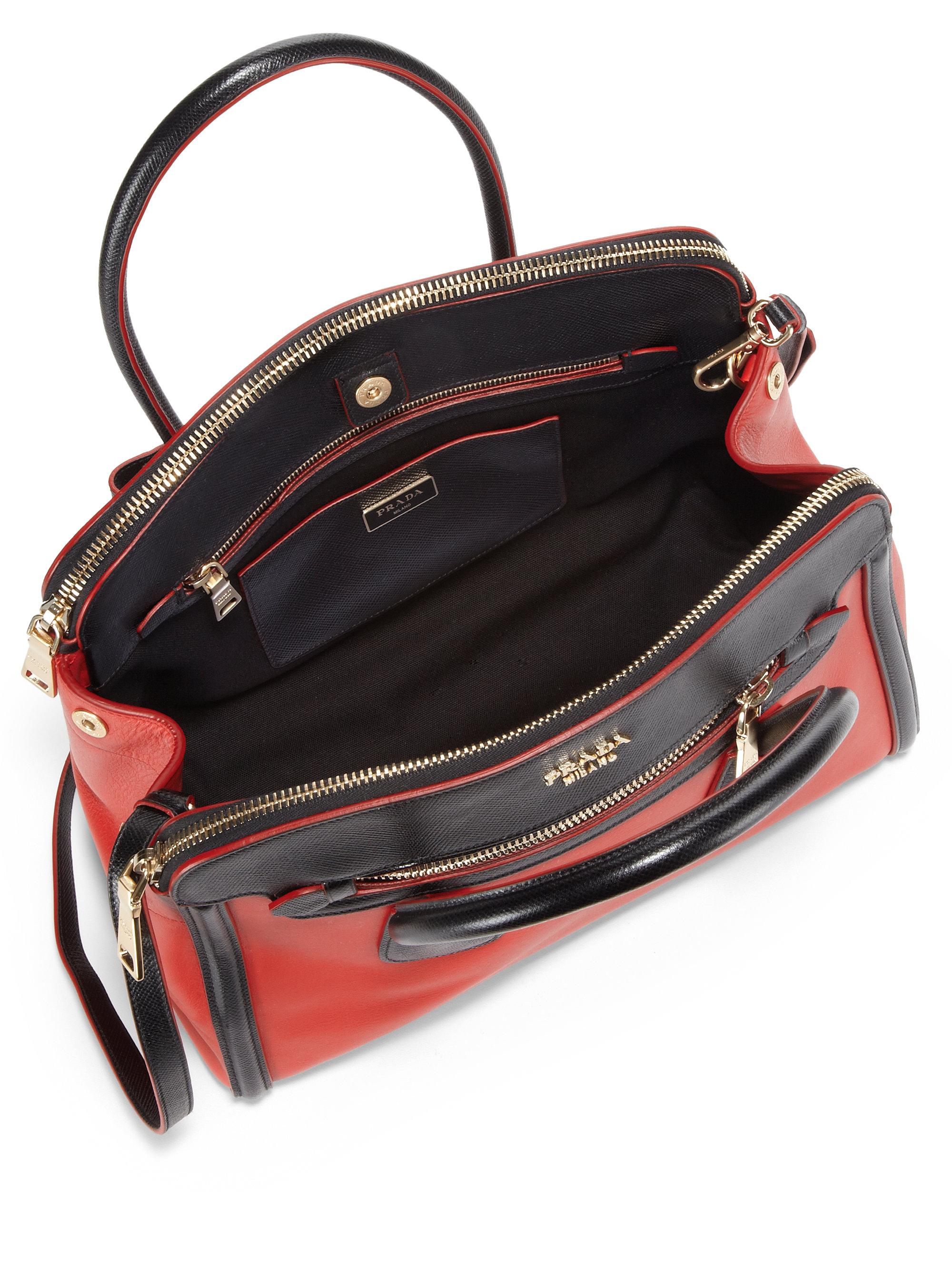 prada brown tote - prada medium bicolor leather satchel, prada sale wallet