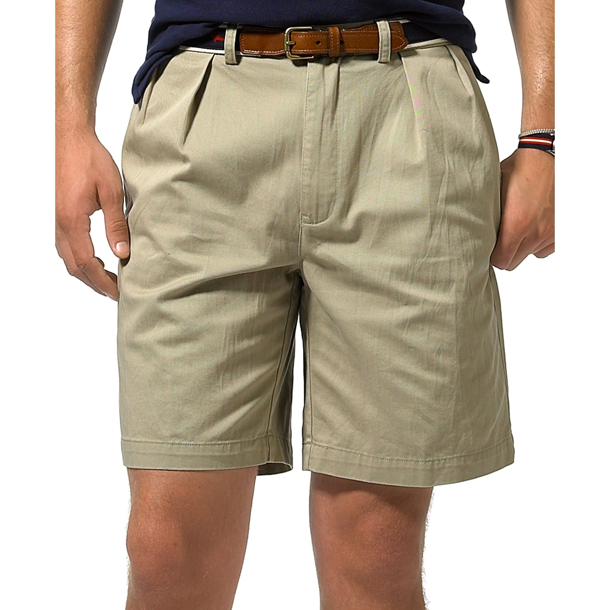 Ralph lauren Tyler Classic Pleated Shorts in Brown for Men | Lyst