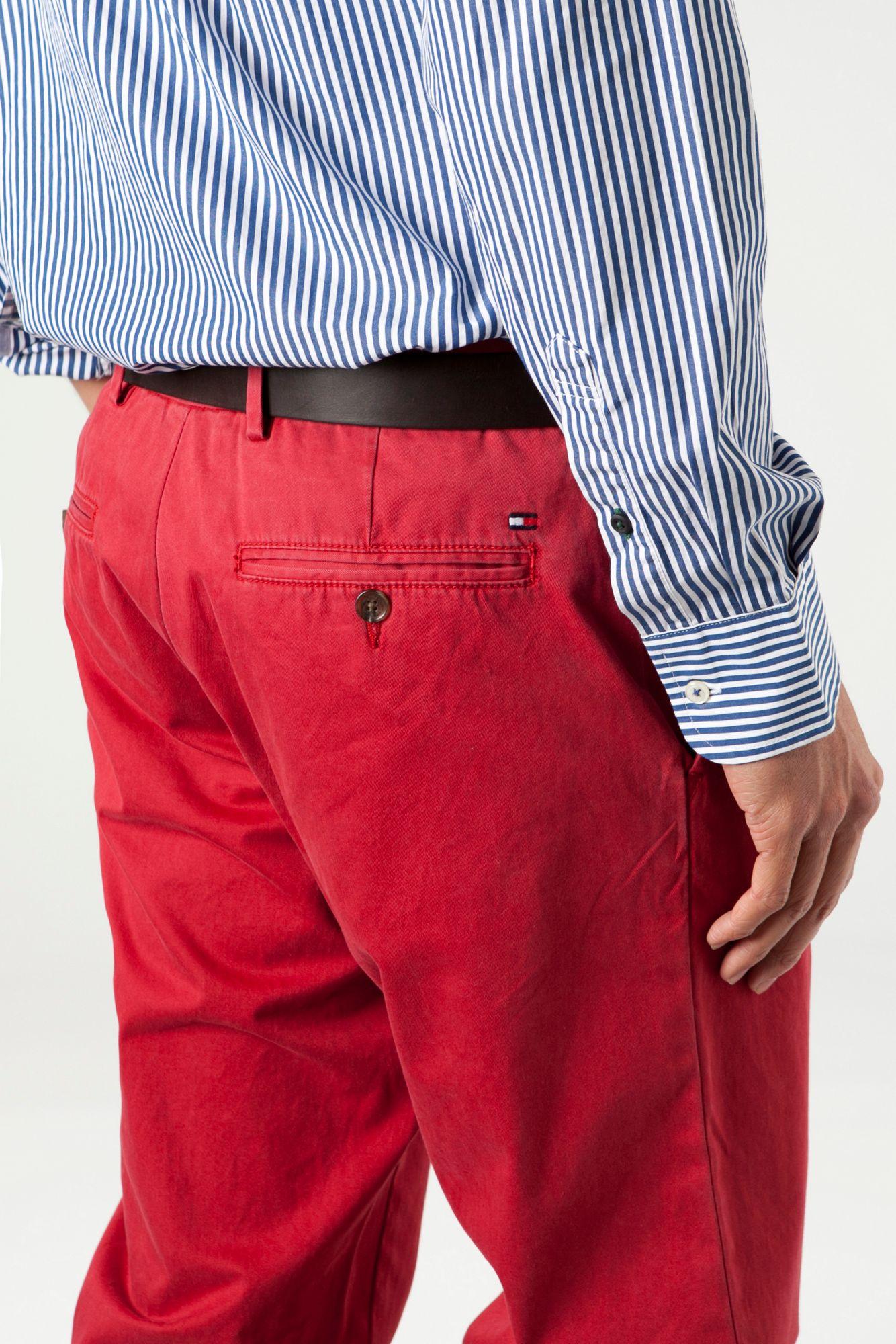 lyst tommy hilfiger mercer garment dyed cords in red for men. Black Bedroom Furniture Sets. Home Design Ideas