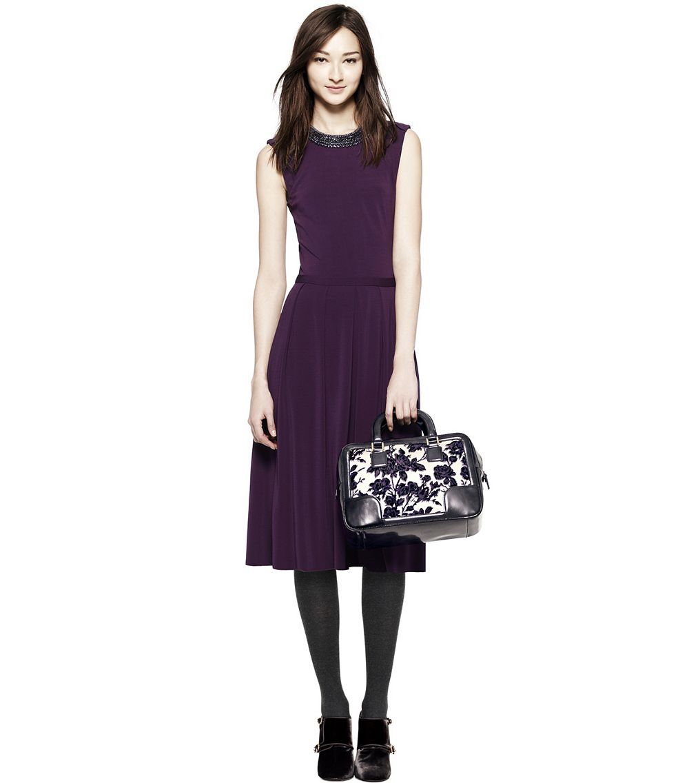 Tory burch eva dress in purple lyst for Tory burch fashion island