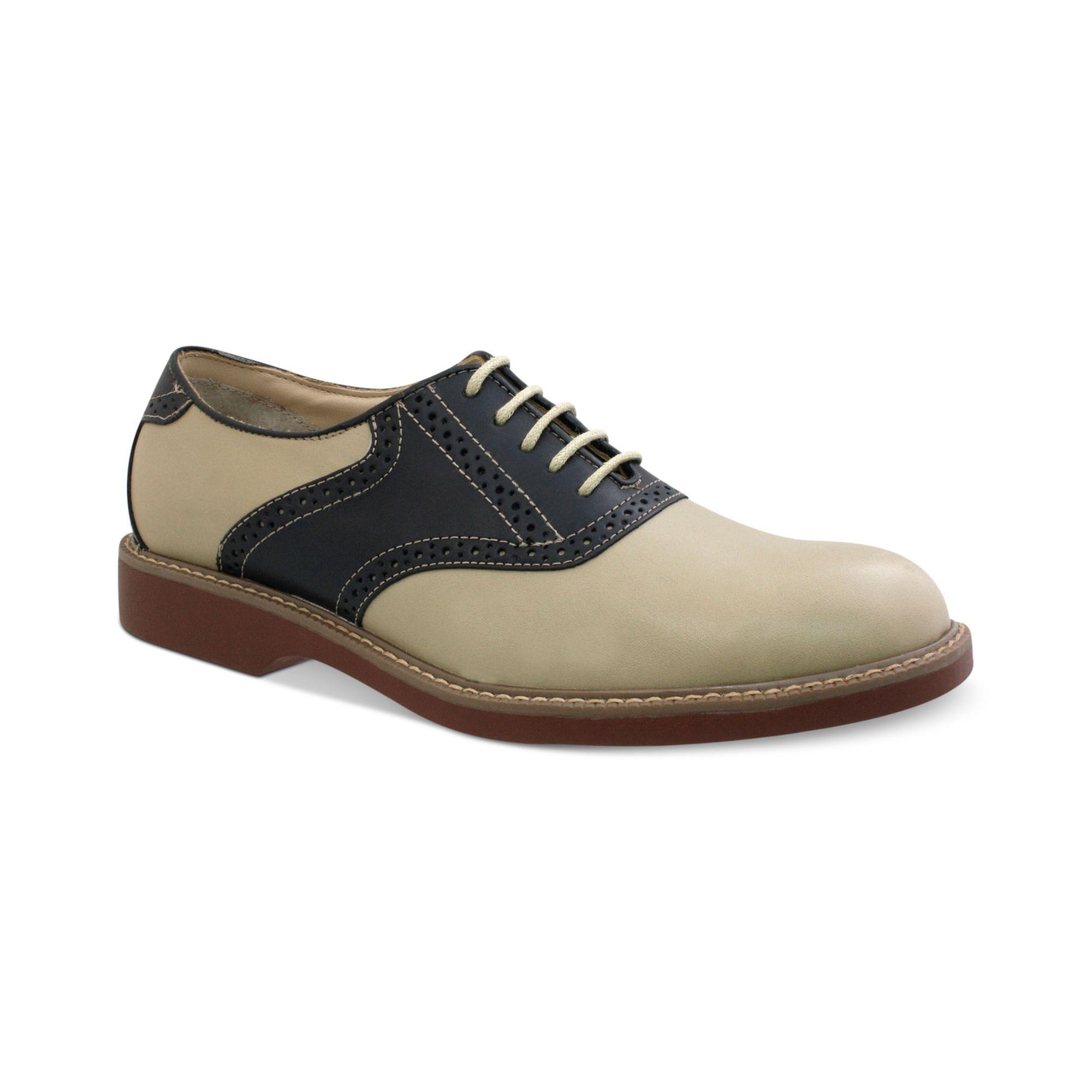 g h bass co pomona plain toe saddle lace up shoes in
