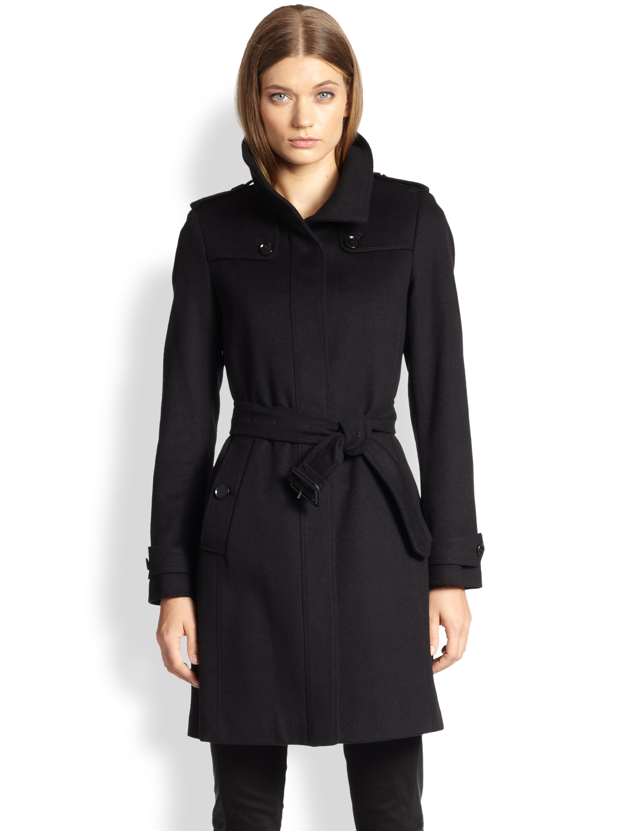 Burberry Basingstoke Wool & Cashmere Coat in Black | Lyst