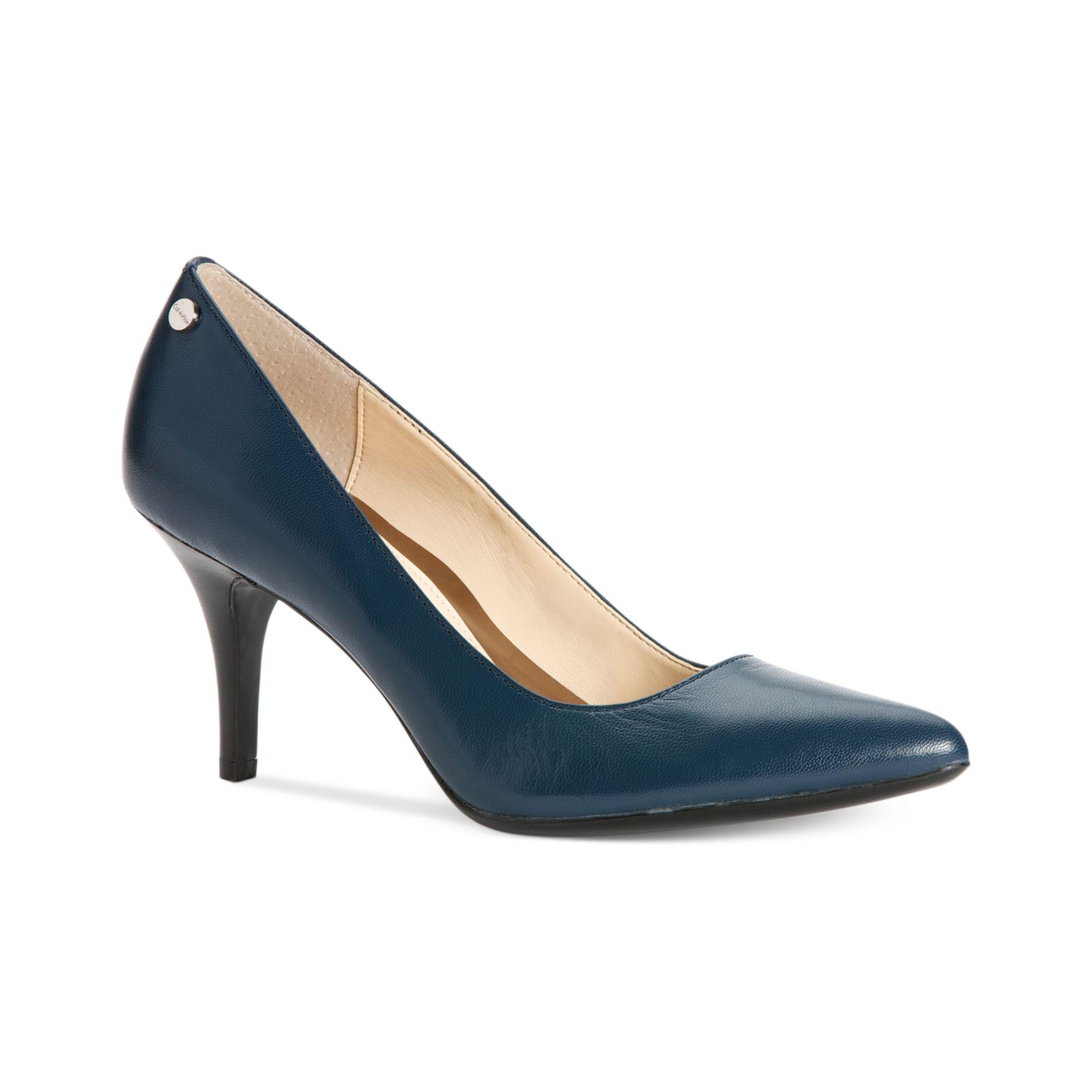 ad72a9ab98b Lyst - Calvin Klein Ashley Pumps in Blue