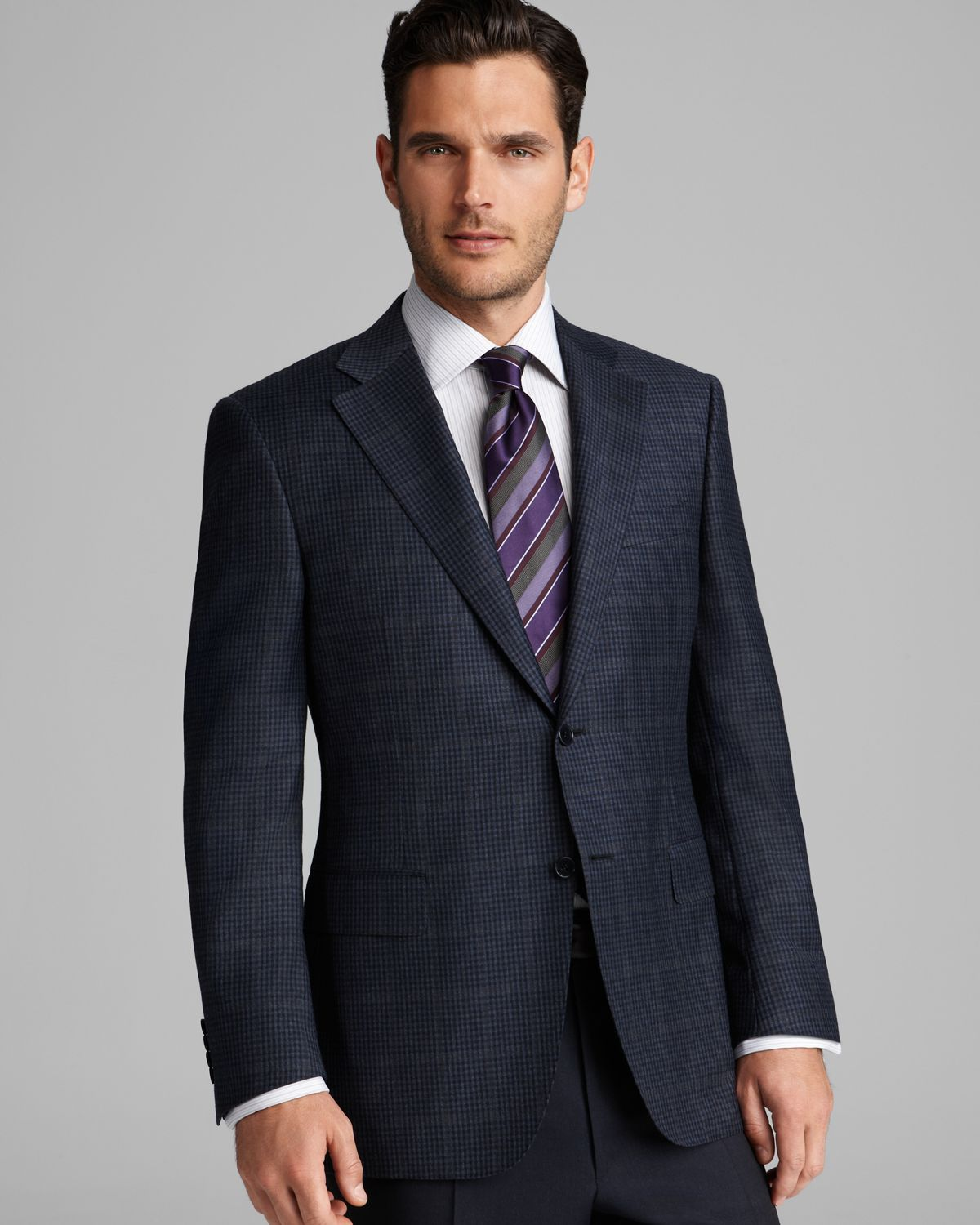Canali Multicheck Windowpane Sport Coat Regular Fit in Blue for ...