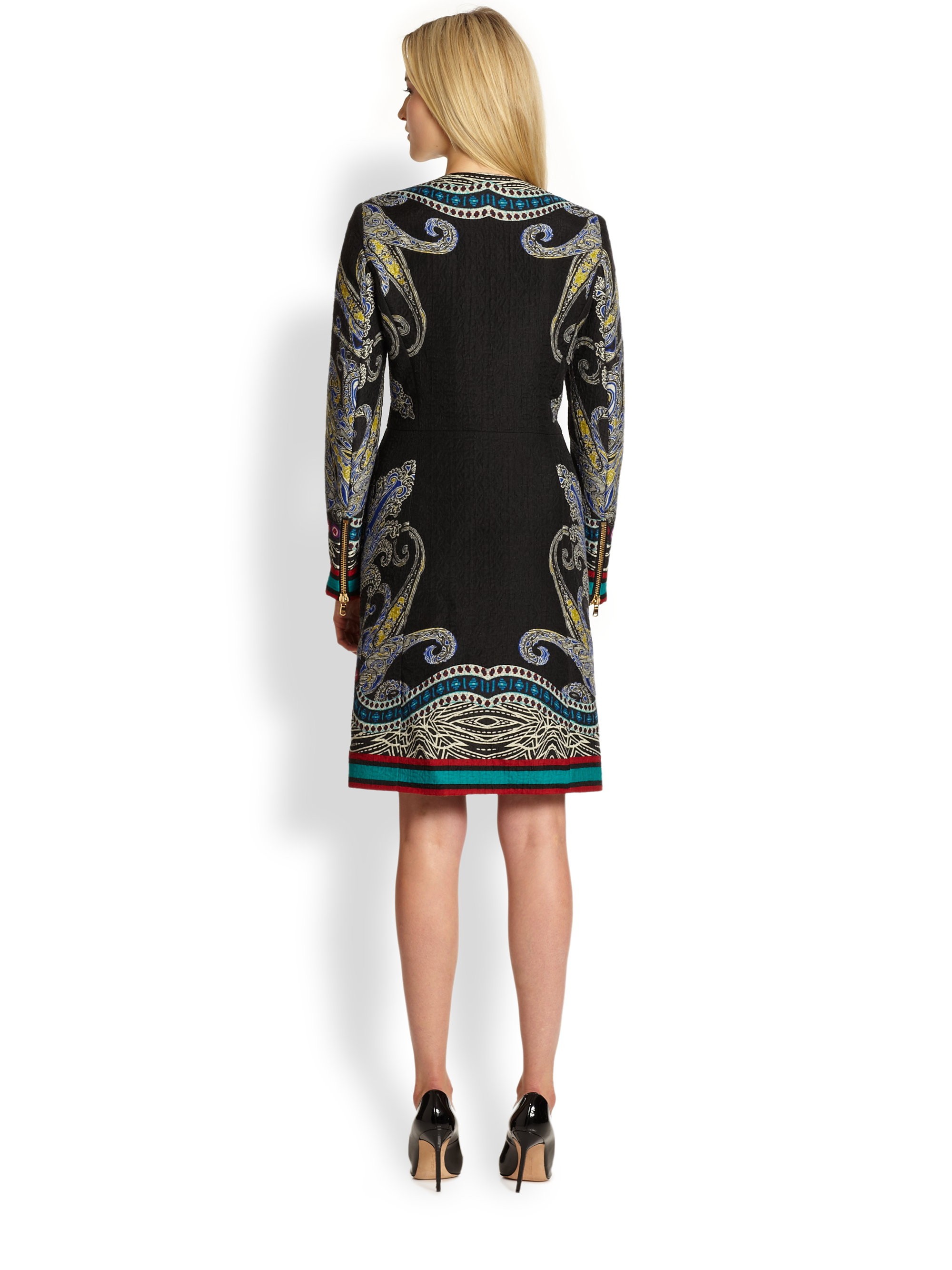 Etro Sleeveless Wool Dress Top Quality For Sale Free Shipping Professional DKSLSIr
