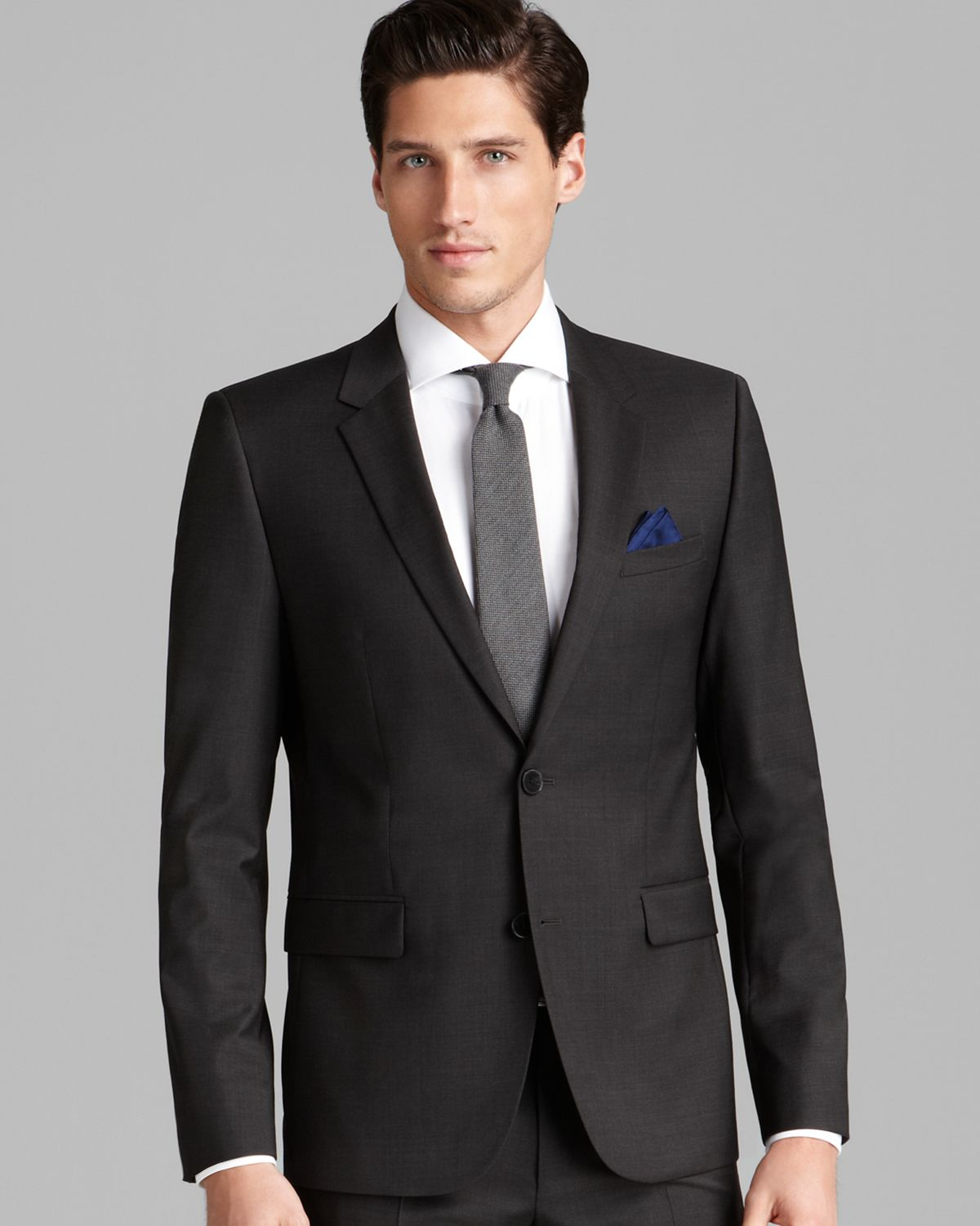 hugo boss hugo aerins sport coat slim fit in gray for. Black Bedroom Furniture Sets. Home Design Ideas