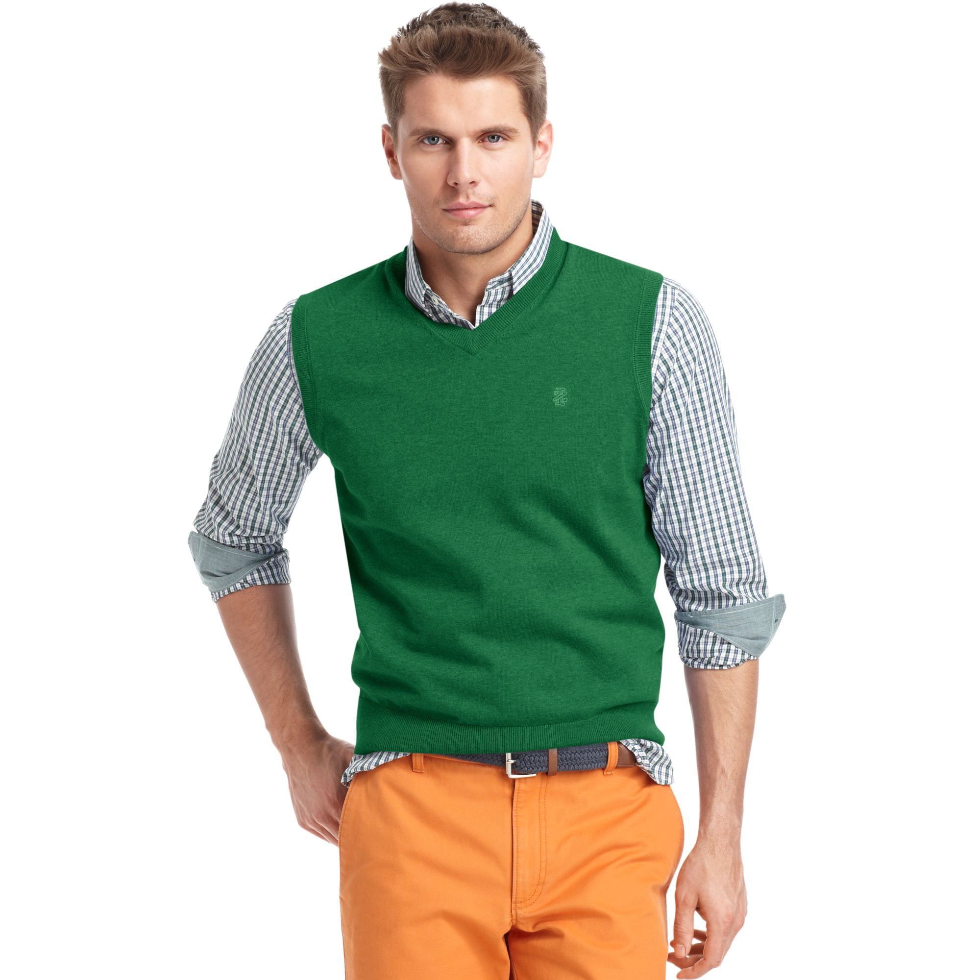 Izod Izod Sweater Vest Vneck Essential Finegauge Lightweight ...