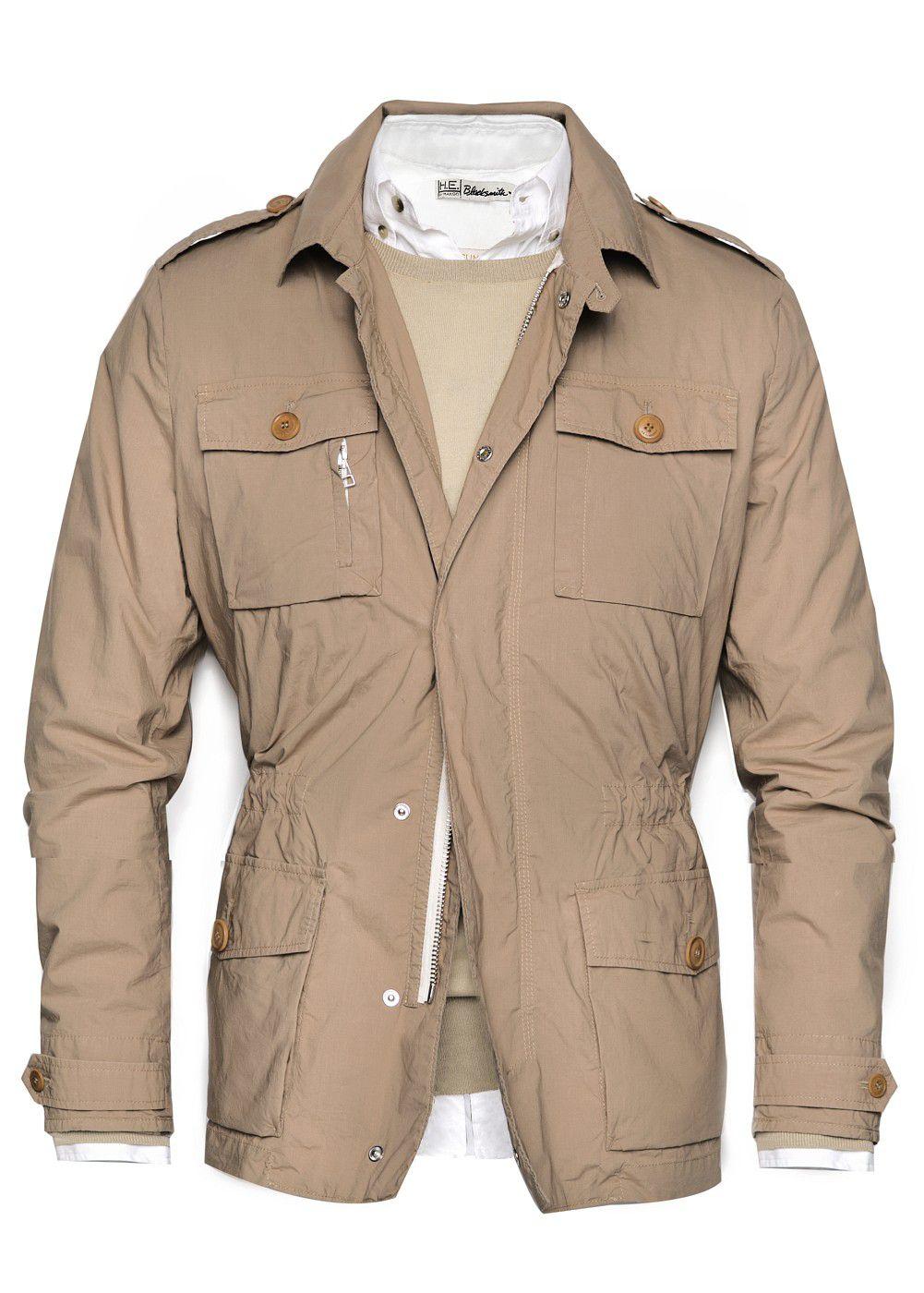 Lyst Mango Lightweight Safari Jacket In Brown For Men