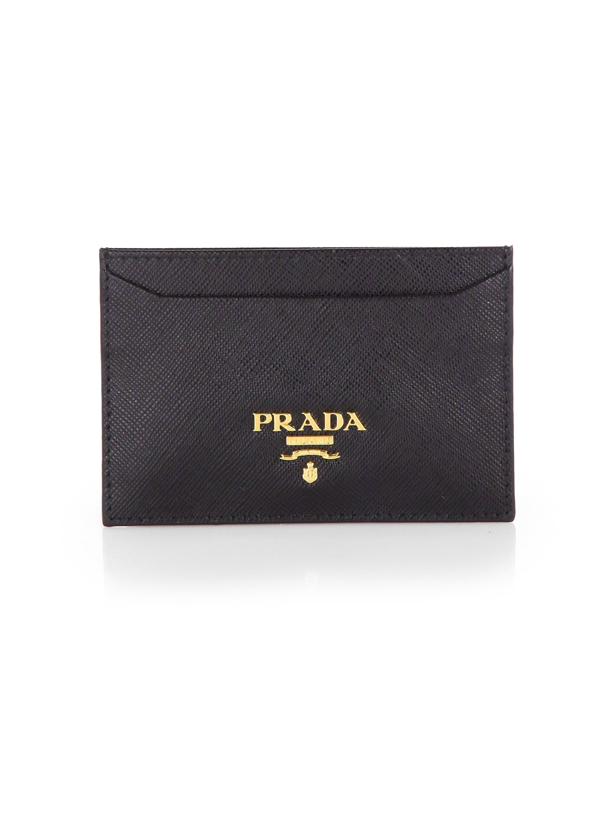 Saffiano cardholder - Black Prada AK2jSu