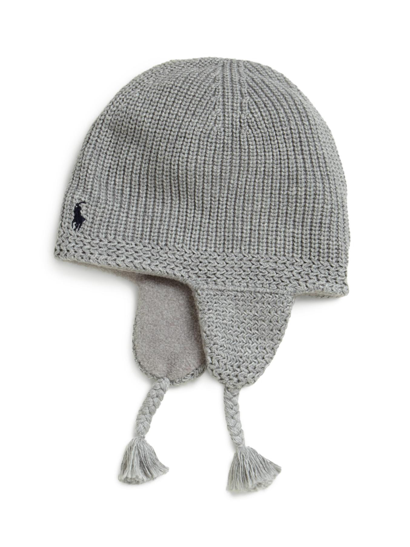 3693d79d527 Lyst - Ralph Lauren Toddler Boys Knit Earflap Hat in Gray for Men