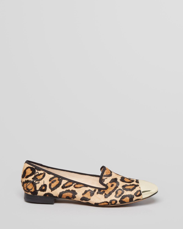 Sam edelman Cap Toe Flats Aster Leopard Print | Lyst
