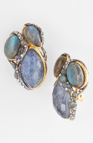 alexis bittar elements jardin de papillon clip earrings in