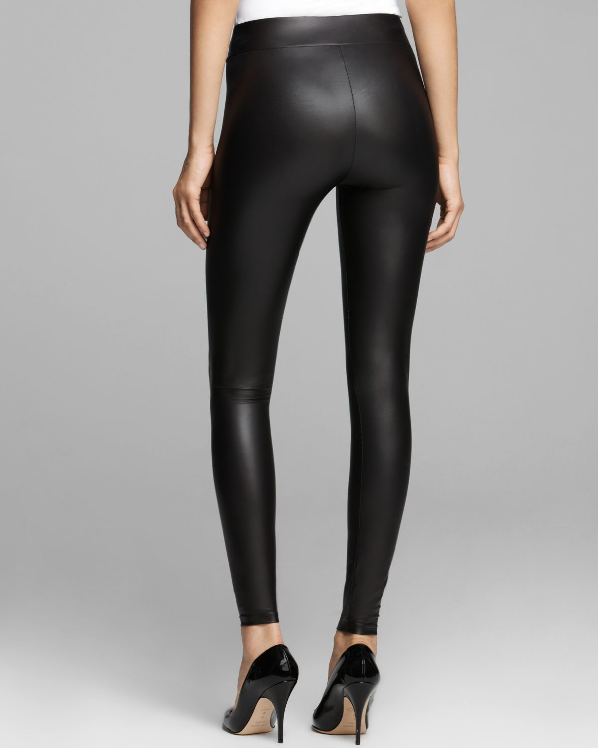 c4f25af540b0e Guess Leggings - Matte Faux Leather in Gray | Lyst