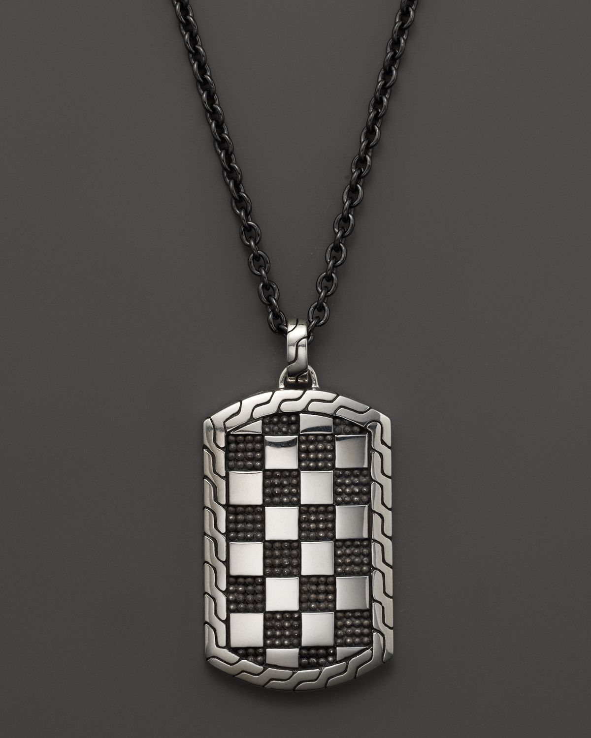 New Stainless Steel Zodiac Dog Tag Pendant Men S Women S: John Hardy Mens Classic Chain Poleng Silver Dog Tag