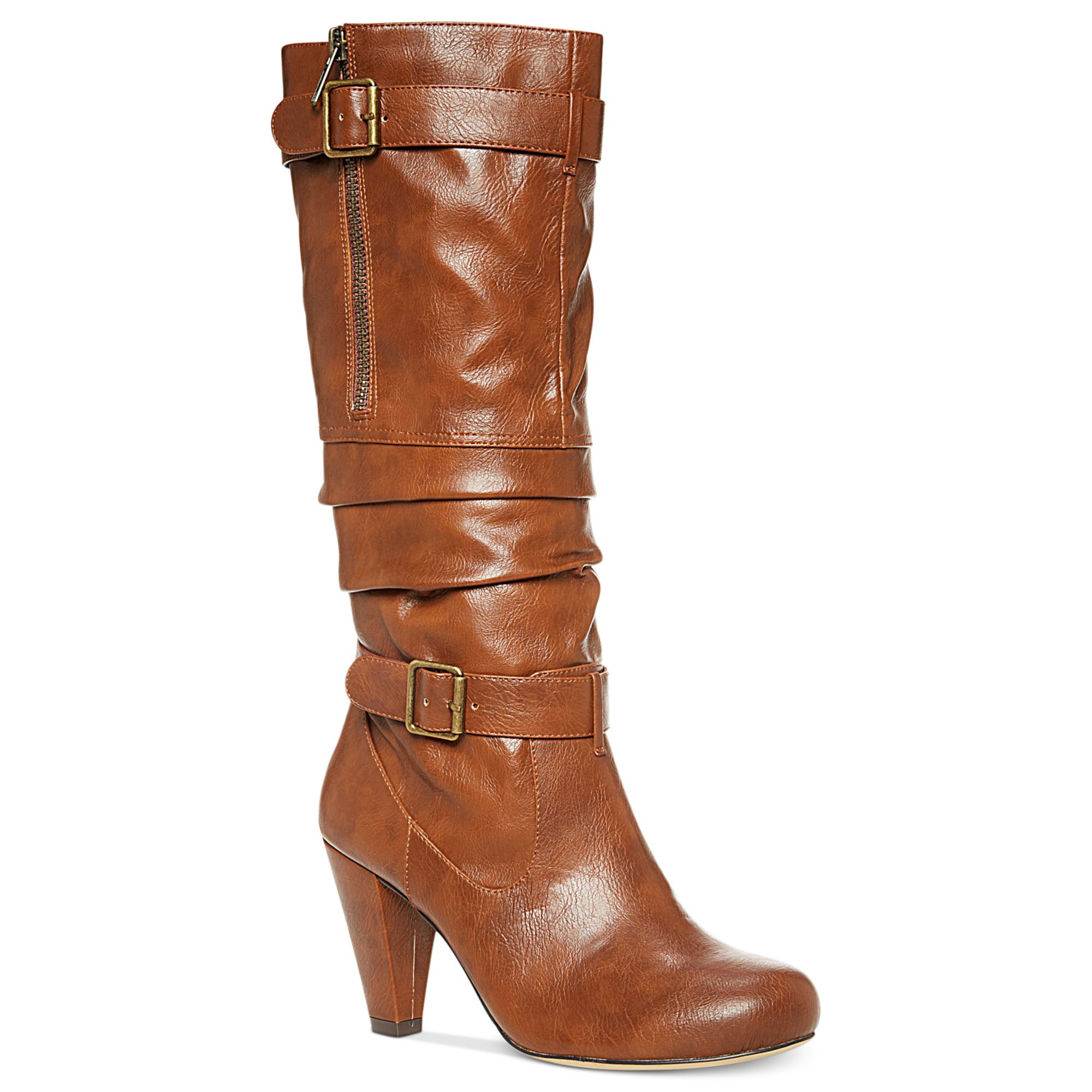 madden payton boots in brown cognac lyst