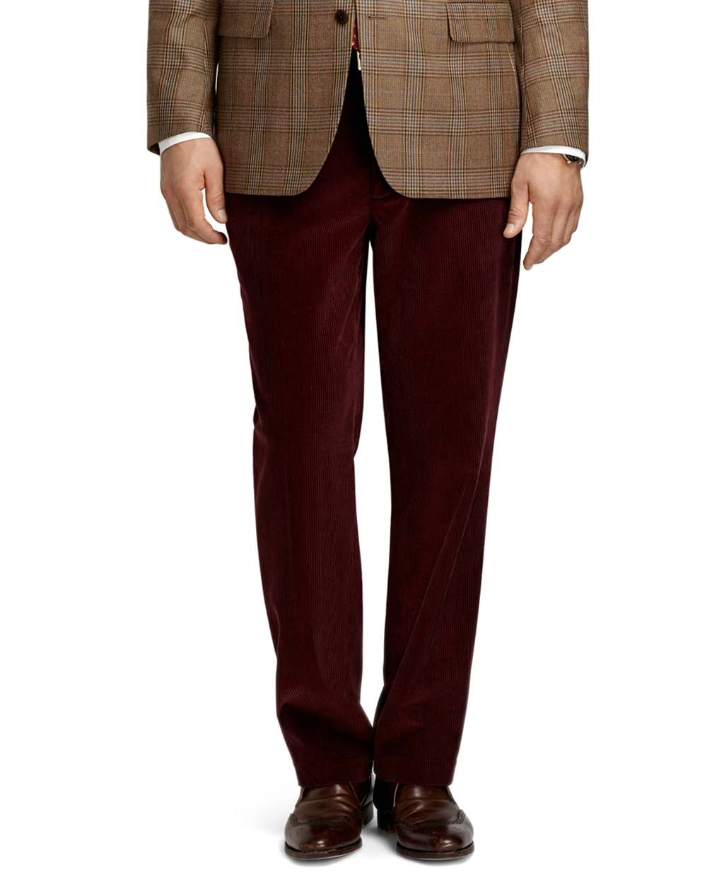 Brooks brothers Hudson 8wale Corduroy Pants in Red for Men | Lyst