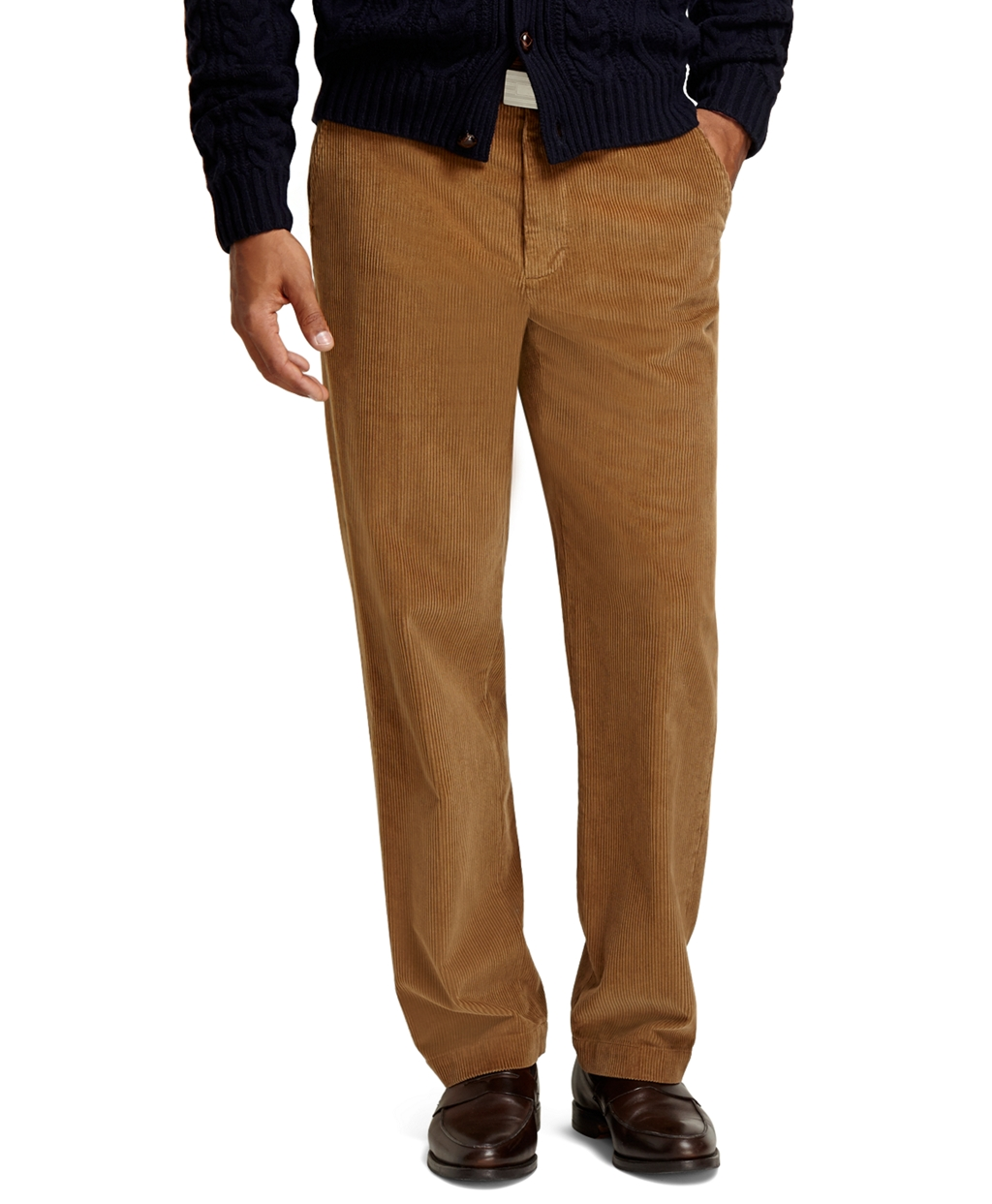 Brooks brothers Clark 8 Wale Corduroy Pants in Natural for Men | Lyst