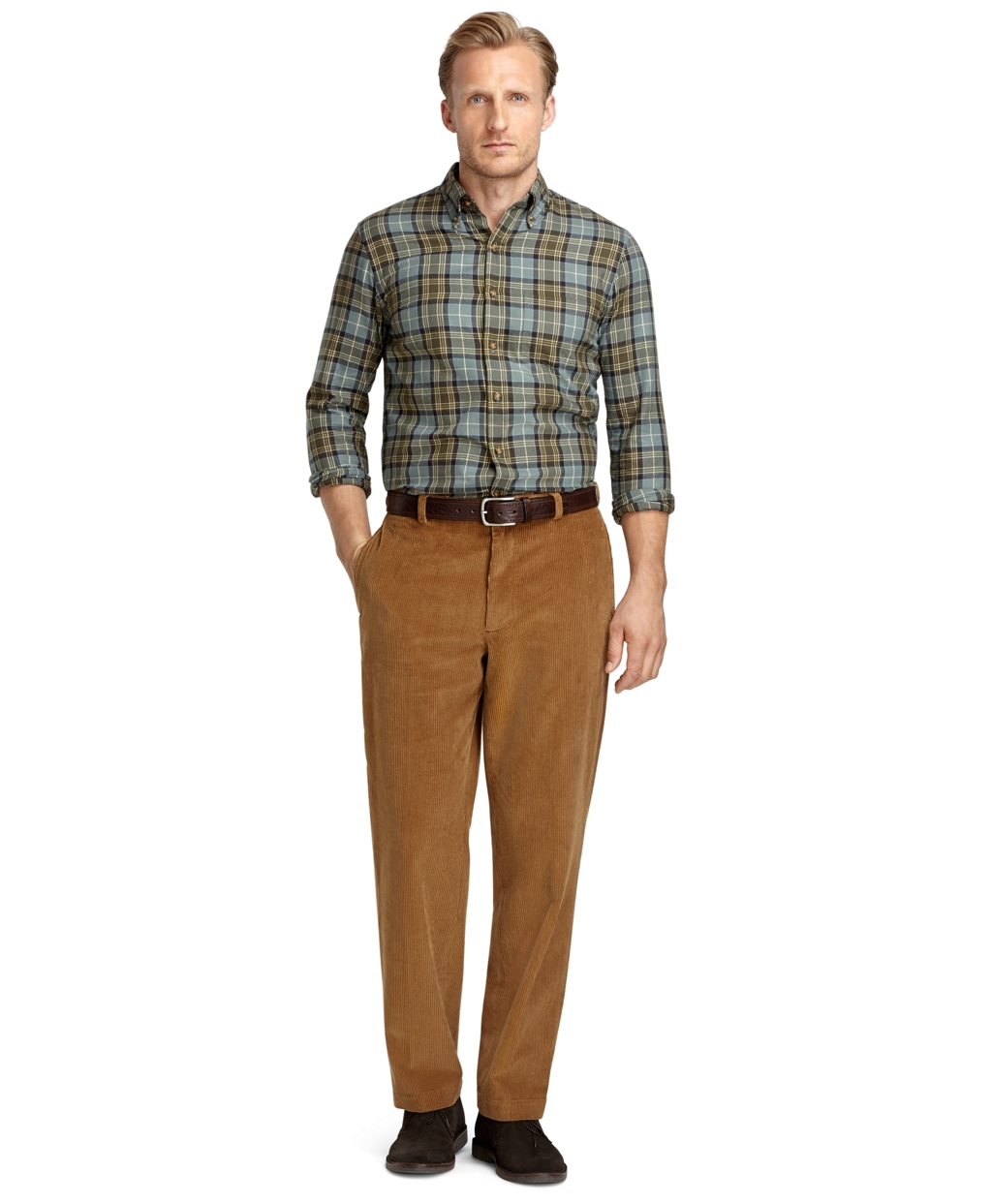 Brooks brothers Hudson 8wale Corduroy Pants in Brown for Men | Lyst