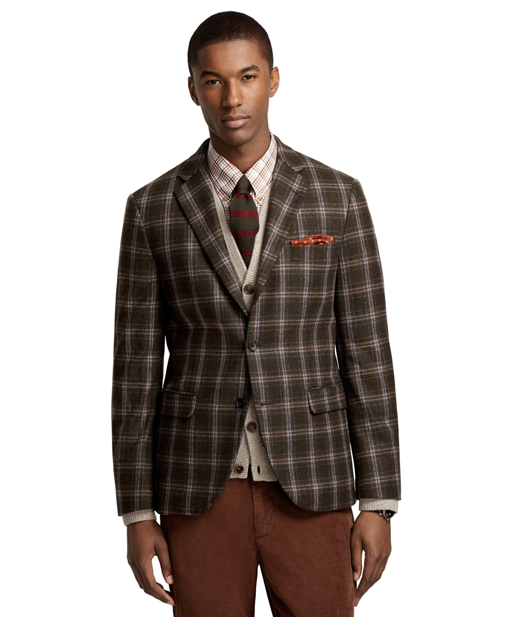 Brooks Brothers Milano Fit Windowpane Quilted Sport Coat