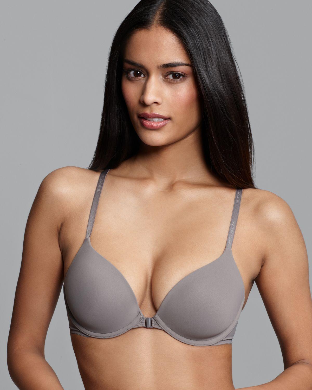 Lyst - Calvin Klein Racerback Bra - Women S Perfectly Fit  F2564 in Gray 82314eeefe