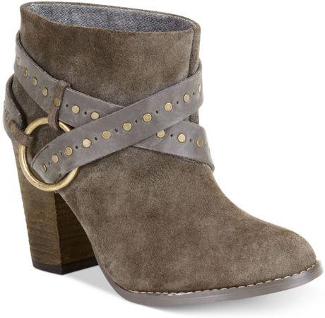 calvin klein ck womens boots shooties in gray