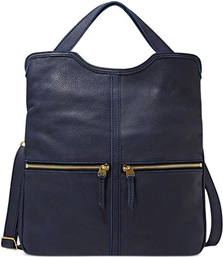 Fossil Erin Tote in Blue (NAVY)