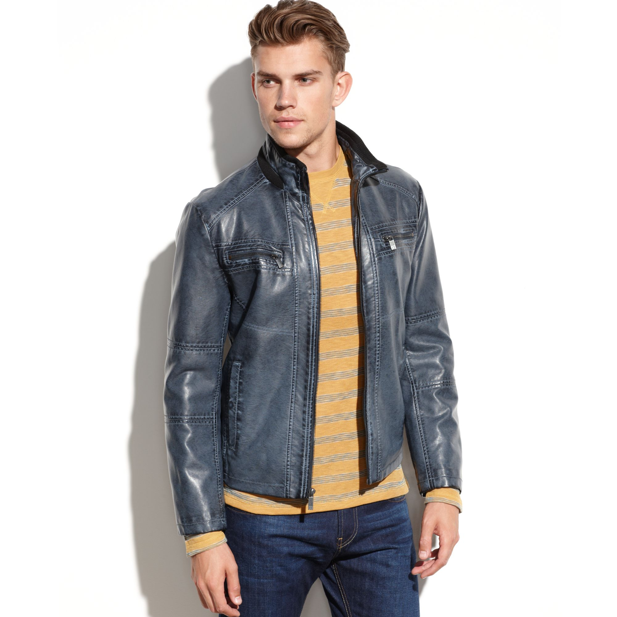 Kenneth Cole REACTION^ Men s Motorcycle Jacket | Boston Store