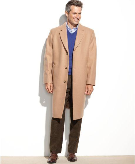 London Fog Coventry Solid Wool-Blend Overcoat in Black for Men | Lyst