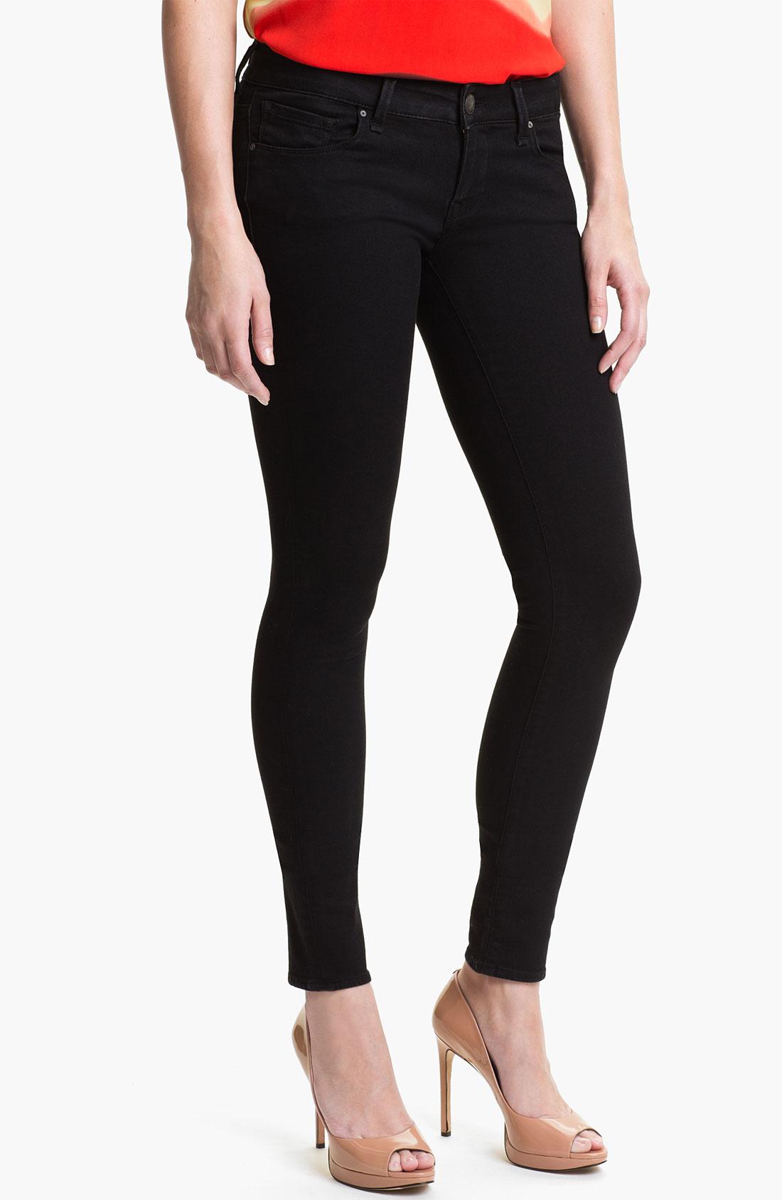mavi jeans serena low rise super skinny jeans in black. Black Bedroom Furniture Sets. Home Design Ideas