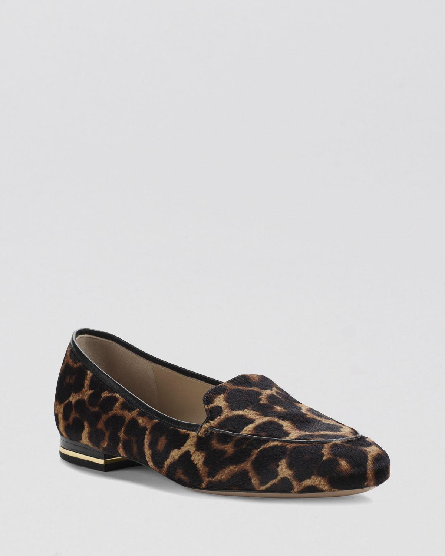 65e0e2600308 Lyst - Michael Kors Loafer Flats Jeslyn Slip On Leopard Print