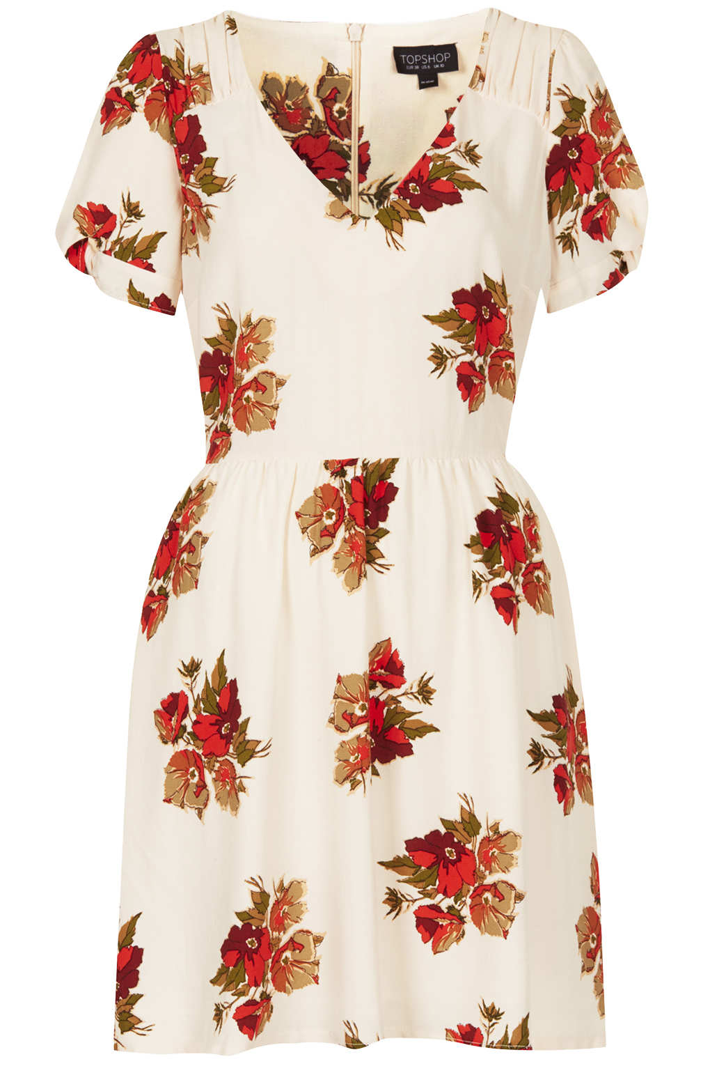 Topshop Autumn Floral Tea Dress In White Lyst