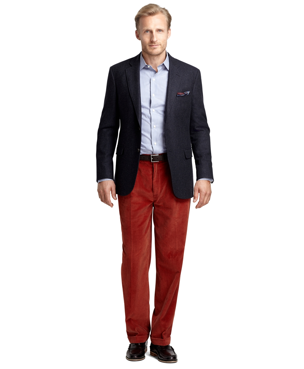 Brooks brothers Elliot 8wale Corduroy Pants in Red for Men | Lyst