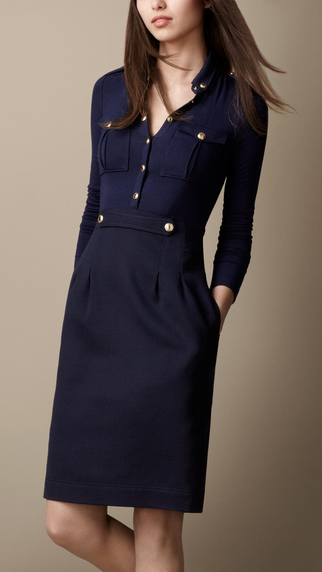 Lyst Burberry Heritage Shirt Dress In Blue