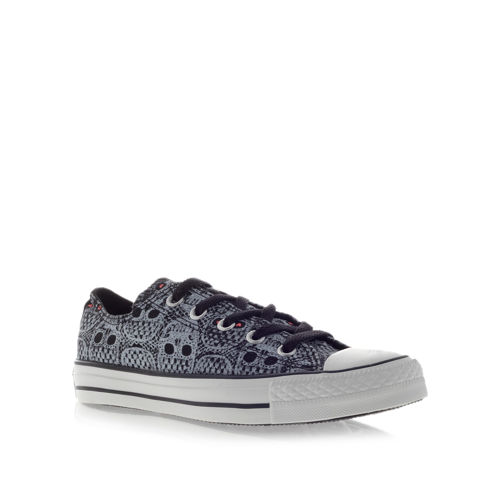Converse Ct Skull Lace Low in Gray - Lyst 988d91950