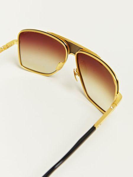 Dita Eighteen Carat Gold Matador Sunglasses In Gold For