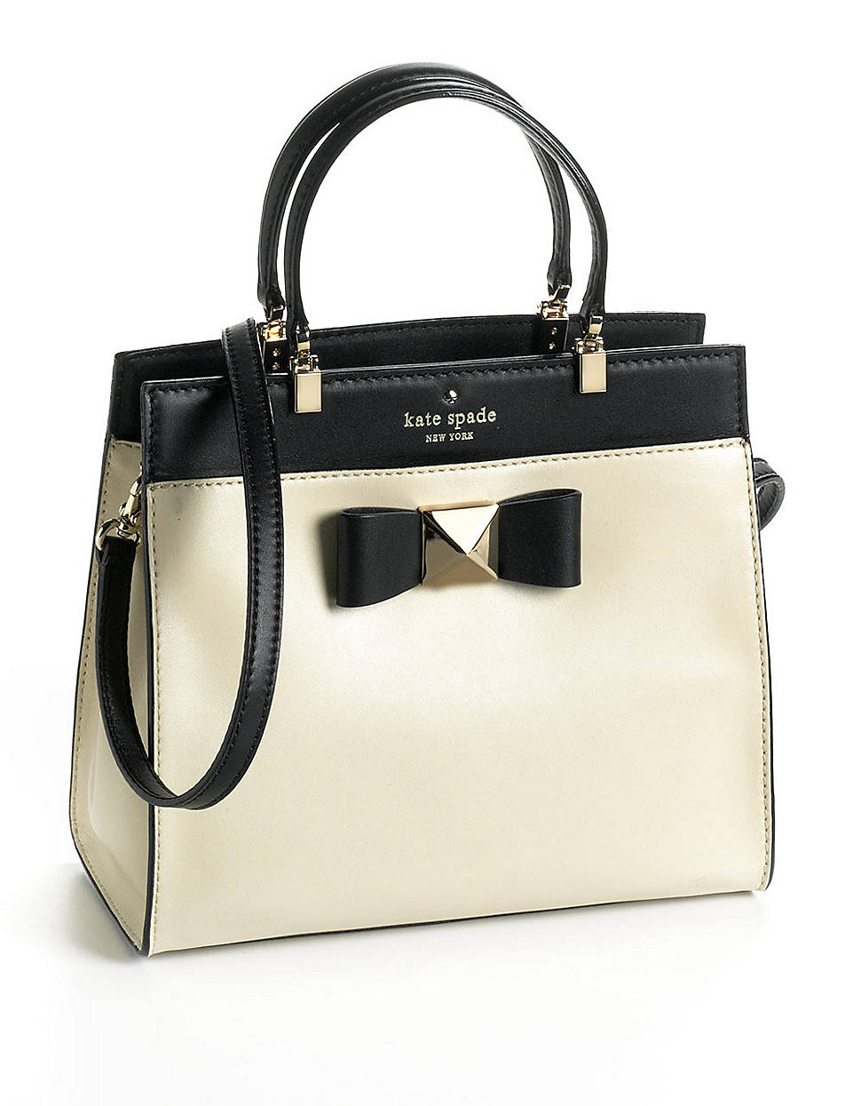 Kate Spade Leather Fulton Satchel Handbag In White
