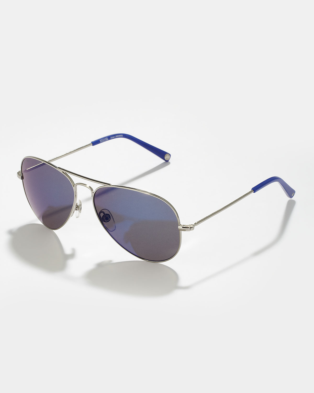Lyst Michael Kors Dylan Aviator Sunglasses In Blue