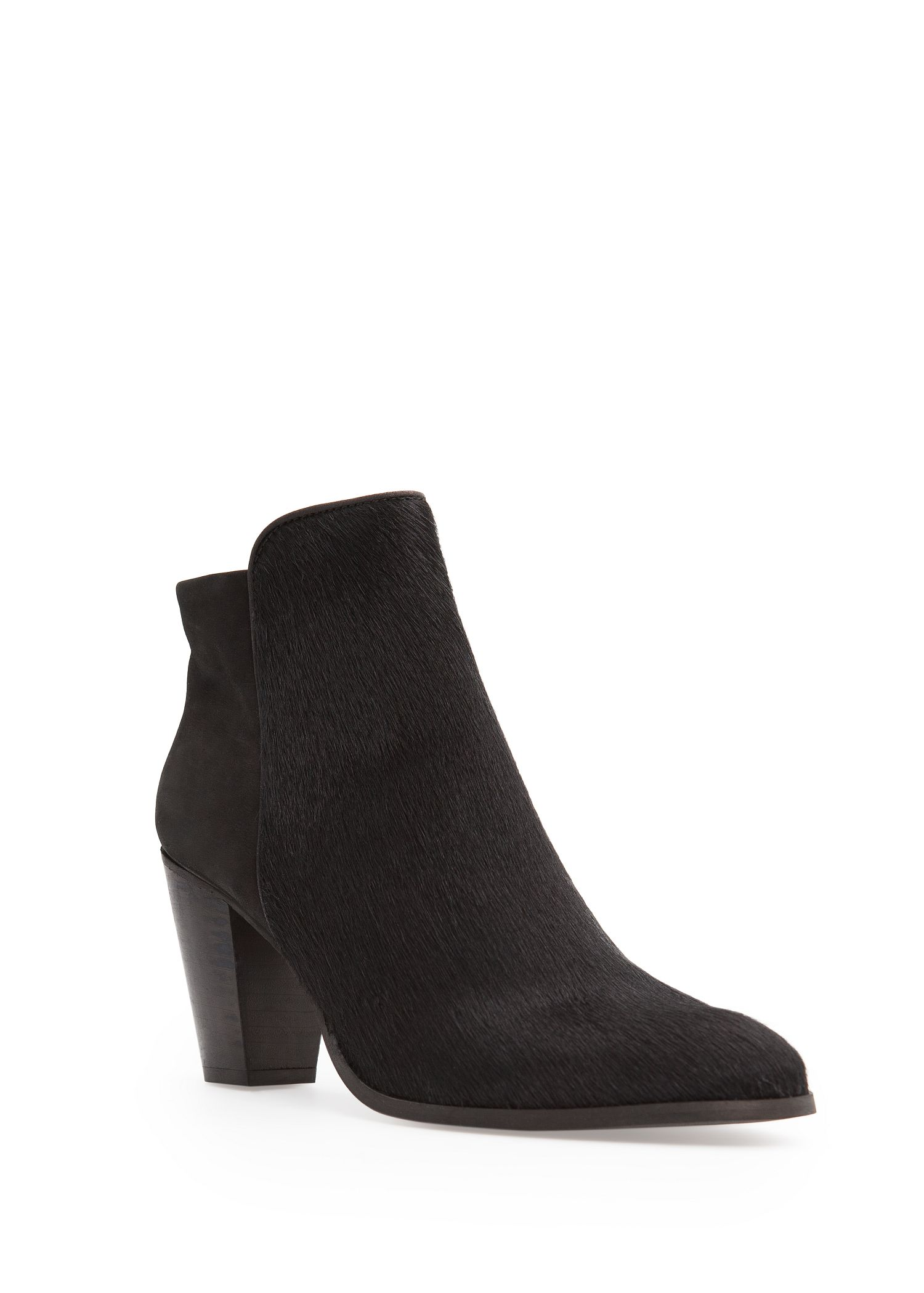mango combi leather ankle boots in black lyst
